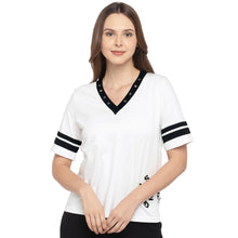Load image into Gallery viewer, Casual Black Color Striped Slim Fit Tops-1