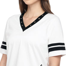 Load image into Gallery viewer, Casual Black Color Striped Slim Fit Tops-5
