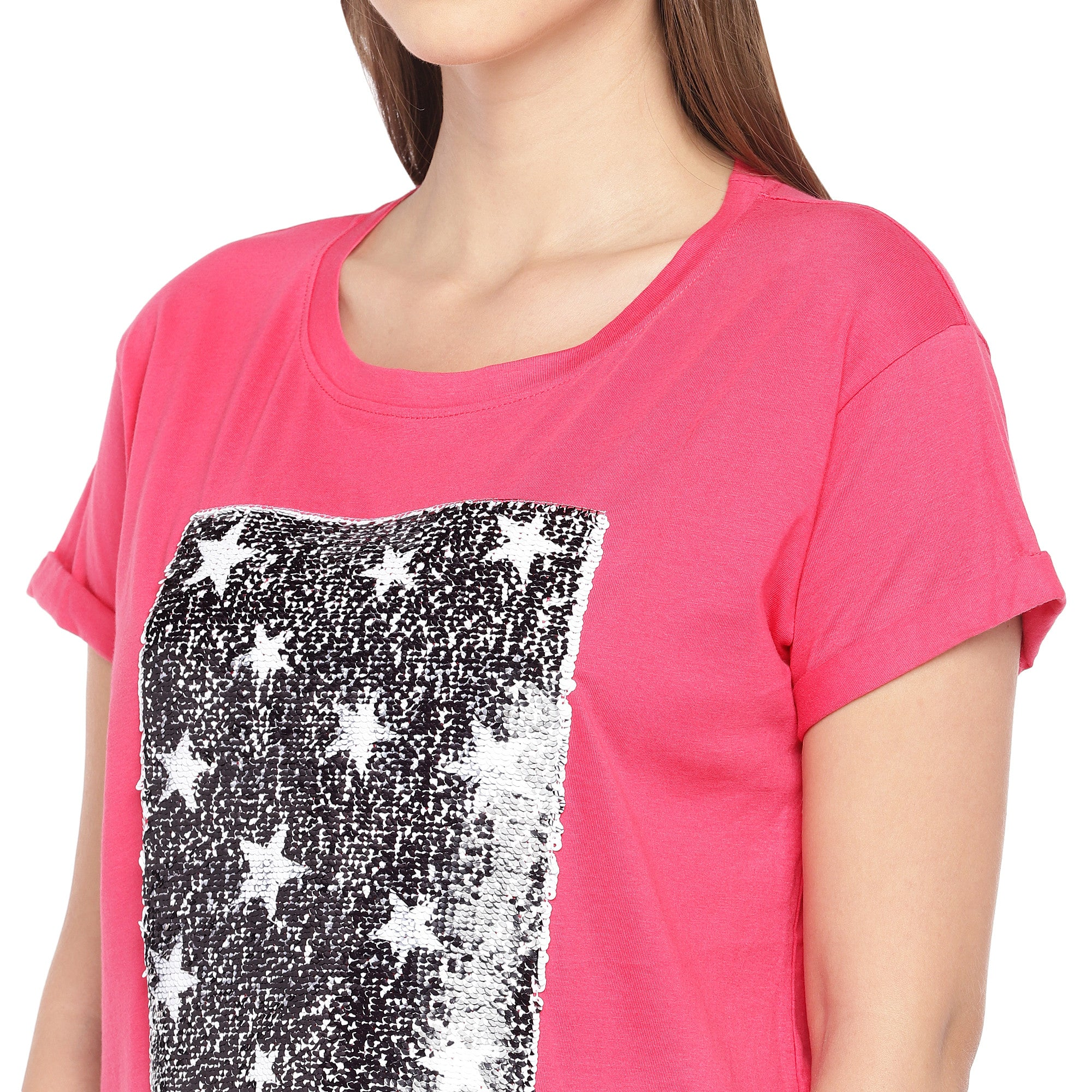 Pink Mermaid-Sequinned Top-5