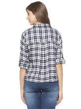 Load image into Gallery viewer, Blue Checked Shirt-3