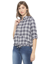 Load image into Gallery viewer, Blue Checked Shirt-4