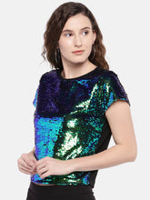 Load image into Gallery viewer, Women Multicoloured Embellished Top-2
