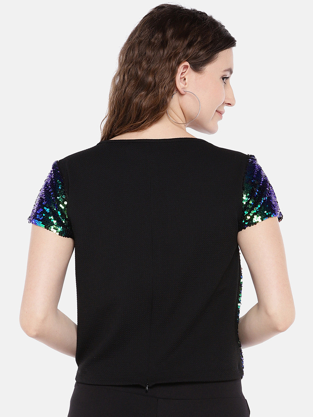 Women Multicoloured Embellished Top-3