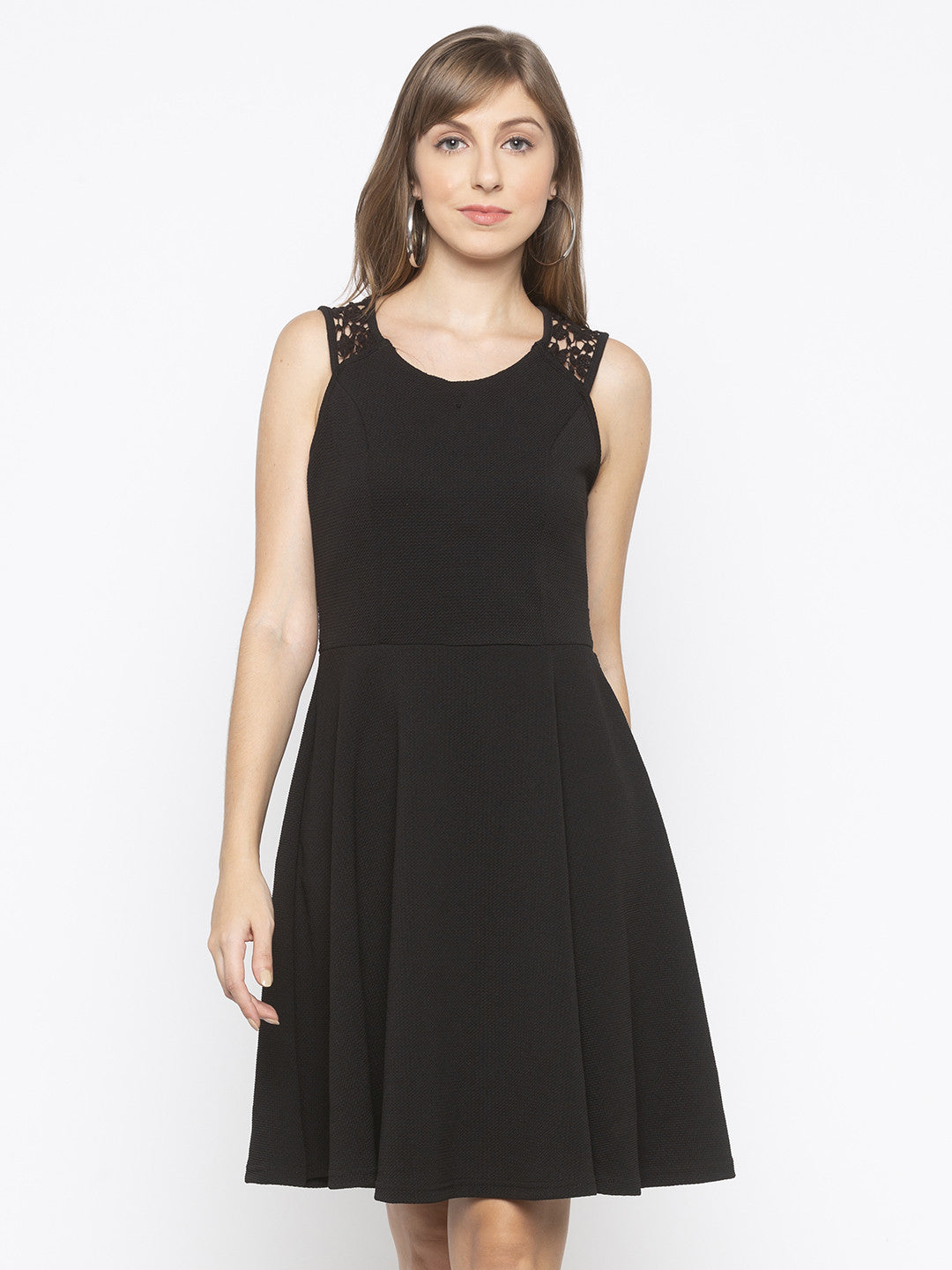 Black Sheath Solid Dresses-1