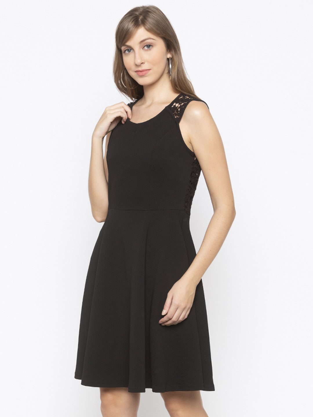 Black Sheath Solid Dresses-2