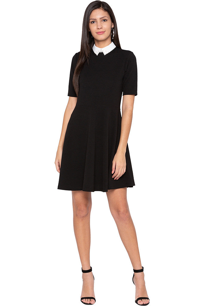 Peter Pan Collar Little Black Dress-2
