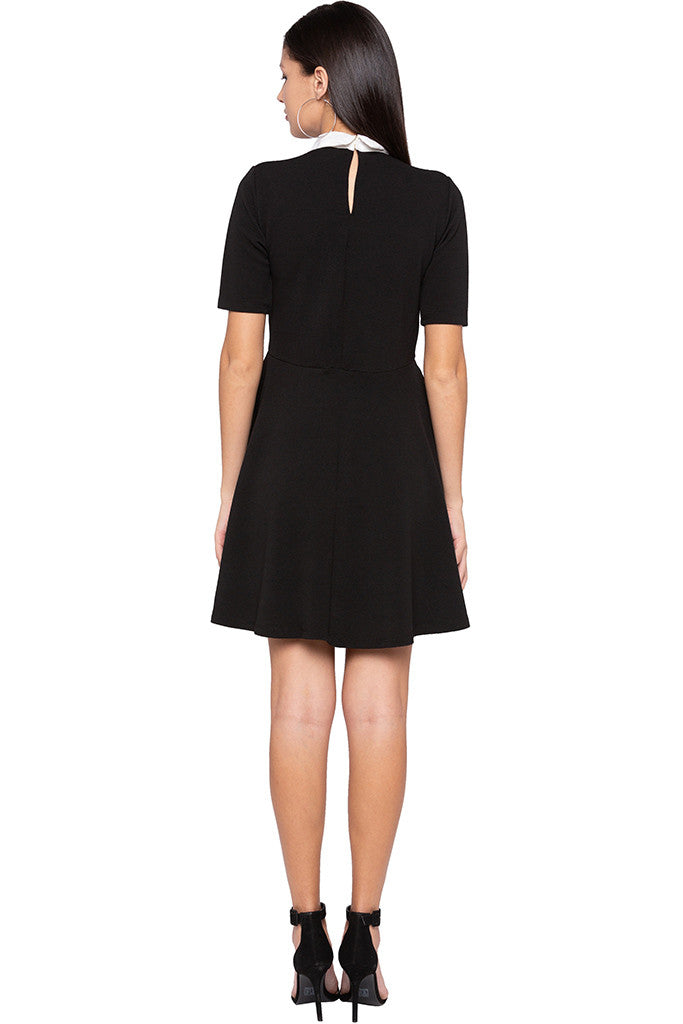 Peter Pan Collar Little Black Dress-3