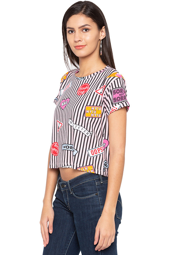 Printed Boxy Fit Tee-4