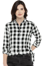 Load image into Gallery viewer, White Regular Fit Checked Casual Shirt-1