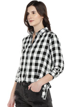 Load image into Gallery viewer, White Regular Fit Checked Casual Shirt-2