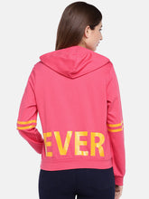 Load image into Gallery viewer, Pink Printed Hooded T-shirt-3