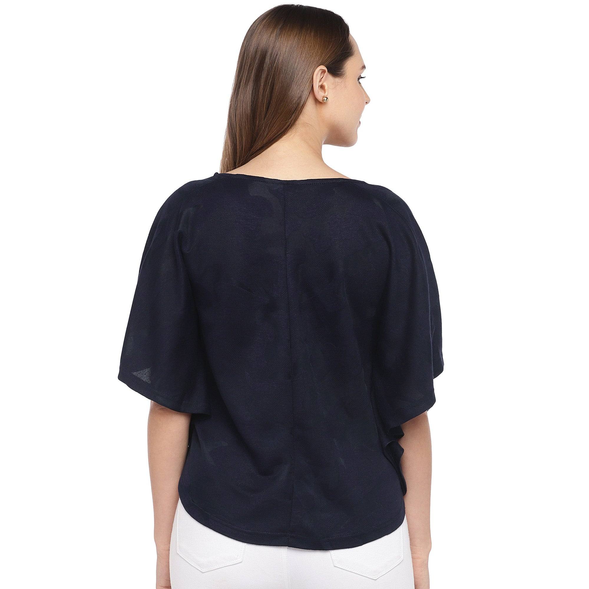 Navy Blue Solid Top-3