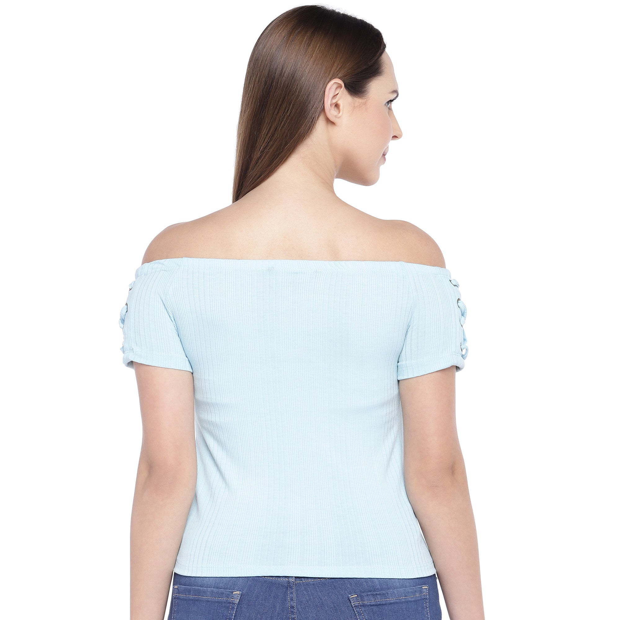 Blue Solid Top-3