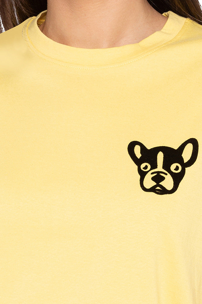 Dog Print Yellow T-shirt-5