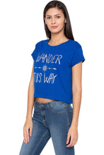 Load image into Gallery viewer, Printed Boxy Fit Blue T-shirt-4