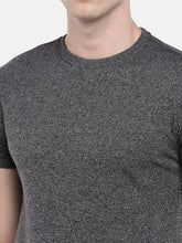 Load image into Gallery viewer, Grey Solid Round Neck T-shirt-5