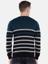 Load image into Gallery viewer, Green & Black Striped Sweater-3