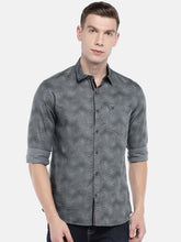 Load image into Gallery viewer, Grey Regular Fit Printed Casual Shirt-1
