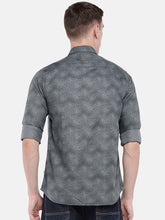 Load image into Gallery viewer, Grey Regular Fit Printed Casual Shirt-3