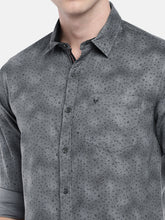 Load image into Gallery viewer, Grey Regular Fit Printed Casual Shirt-5