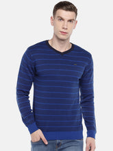 Load image into Gallery viewer, Blue Striped Pullover Sweater-1