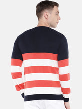 Load image into Gallery viewer, Orange & White Striped Sweater-3
