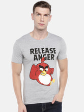 Load image into Gallery viewer, Grey Angry Birds Printed Round Neck T-shirt-1