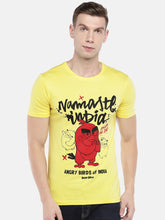 Load image into Gallery viewer, Yellow Angry Birds Printed Round Neck T-shirt-1