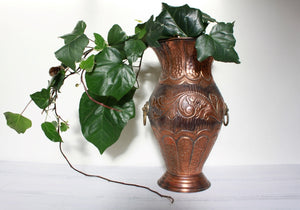 Italian hand crafted copper urn