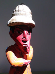 African Mid-Century wood carving of an official