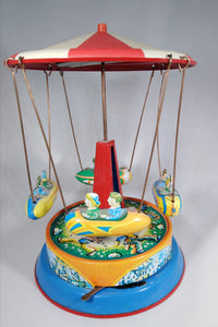 German tin plate merry-go-round