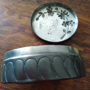French Art Nouveau pewter box
