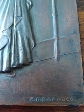 Load image into Gallery viewer, Italian vintage mixed metal relief plaque
