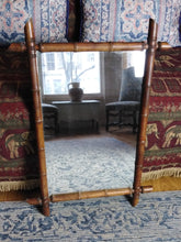 Load image into Gallery viewer, French 1930s faux bamboo framed mirror