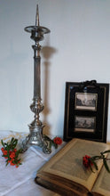 Load image into Gallery viewer, French 19th Century silver plated altar candlestick