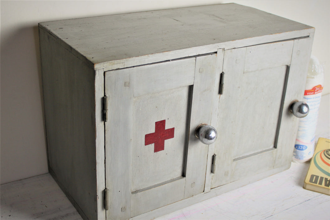 French vintage medical cupboard