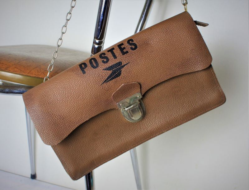 French leather Poste bag