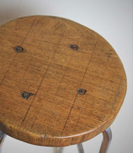 Load image into Gallery viewer, French oak top industrial stool