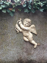 Load image into Gallery viewer, French antique cast iron wall mounted cherub