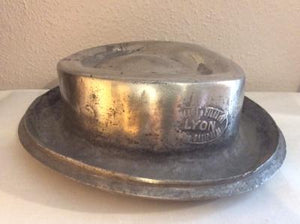French milliners cast aluminium 'Pork Pie' hat block