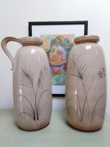 Pair of vintage West German floor vases