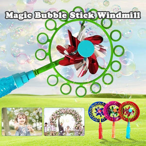 Wunderhause™2-in-1 Magic Bubble Stick Windmill