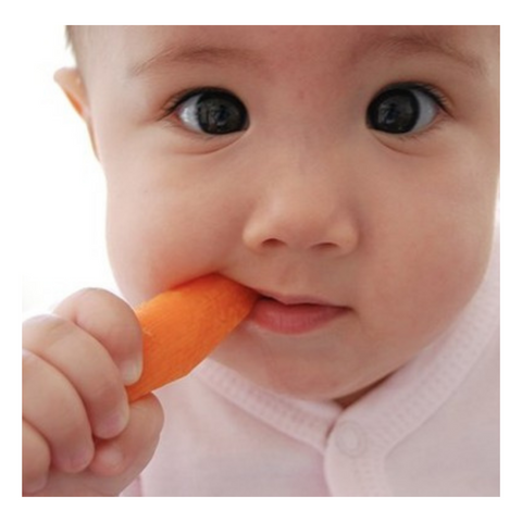 Carrot for baby teething symptoms