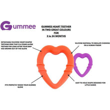 Load image into Gallery viewer, detachable silicone heart teething ring for young teethers pain relief for teethers teething guide