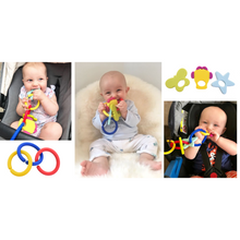 Load image into Gallery viewer, teething bangle or bracelet for parent to wear and child to teethe on in use