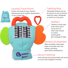 Load image into Gallery viewer, gummee glove teething mitten for toddlers teether chew mitt teething guide