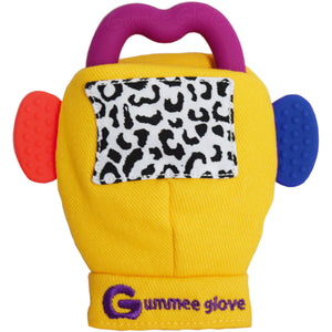 gummee glove teething mitten for babies teething ring set with silicone baby teether perfect for baby shower gift