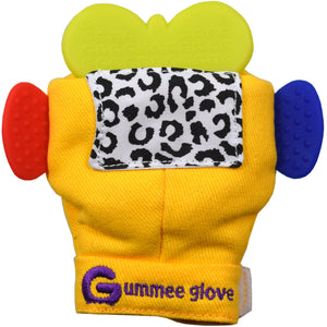 silicone butterfly shaped teether can fit in all our gummee gloves