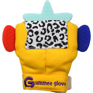 silicone star shaped teether can fit into any of our gummee gloves