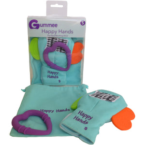 Gummee mouthing gloves for additional / special needs for any child that bites their hands